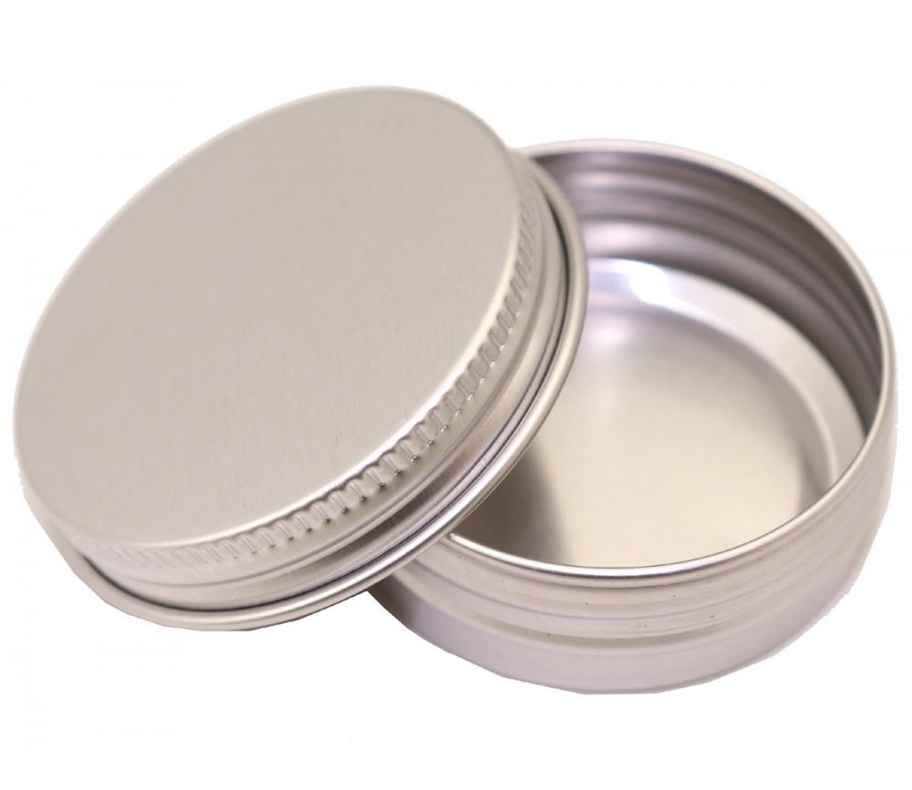 Boîte ronde en aluminium avec couvercle à vis