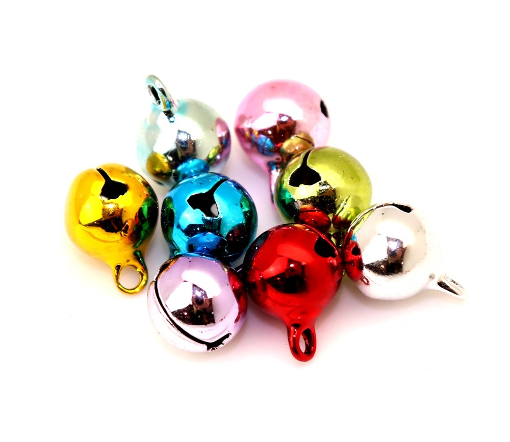 10 Grelots Ø 1 cm en métal coloré