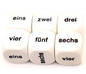 Dé 6 faces allemand 1 à 6 - eins sechs