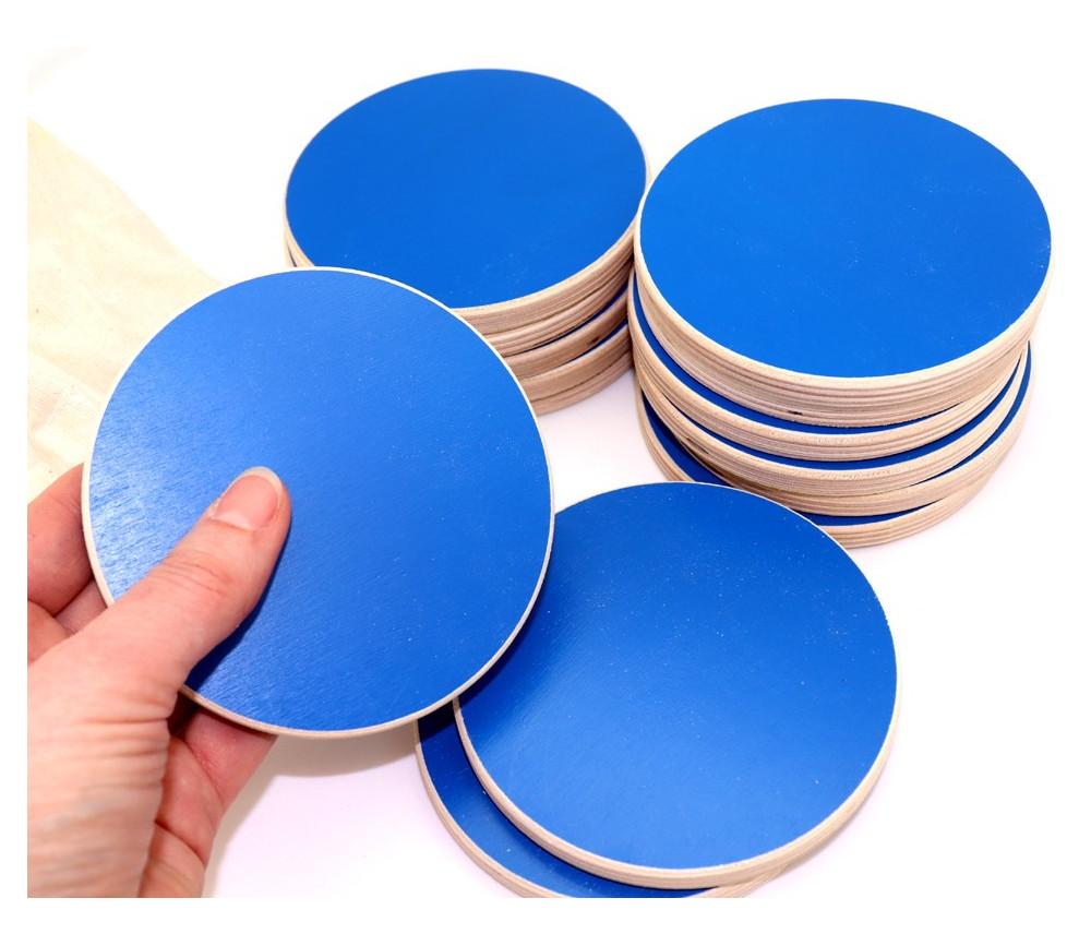 14 palets géant jeux 10 cm bleu XXL