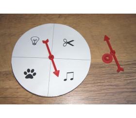 Flèche 75 mm pour créer un jeu avec une roue
