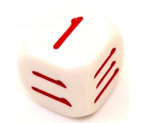 Dé 6 faces chinois 1 à 6 pour jeu et apprentissage