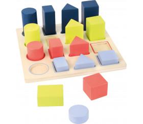 Puzzle formes géométriques en bois