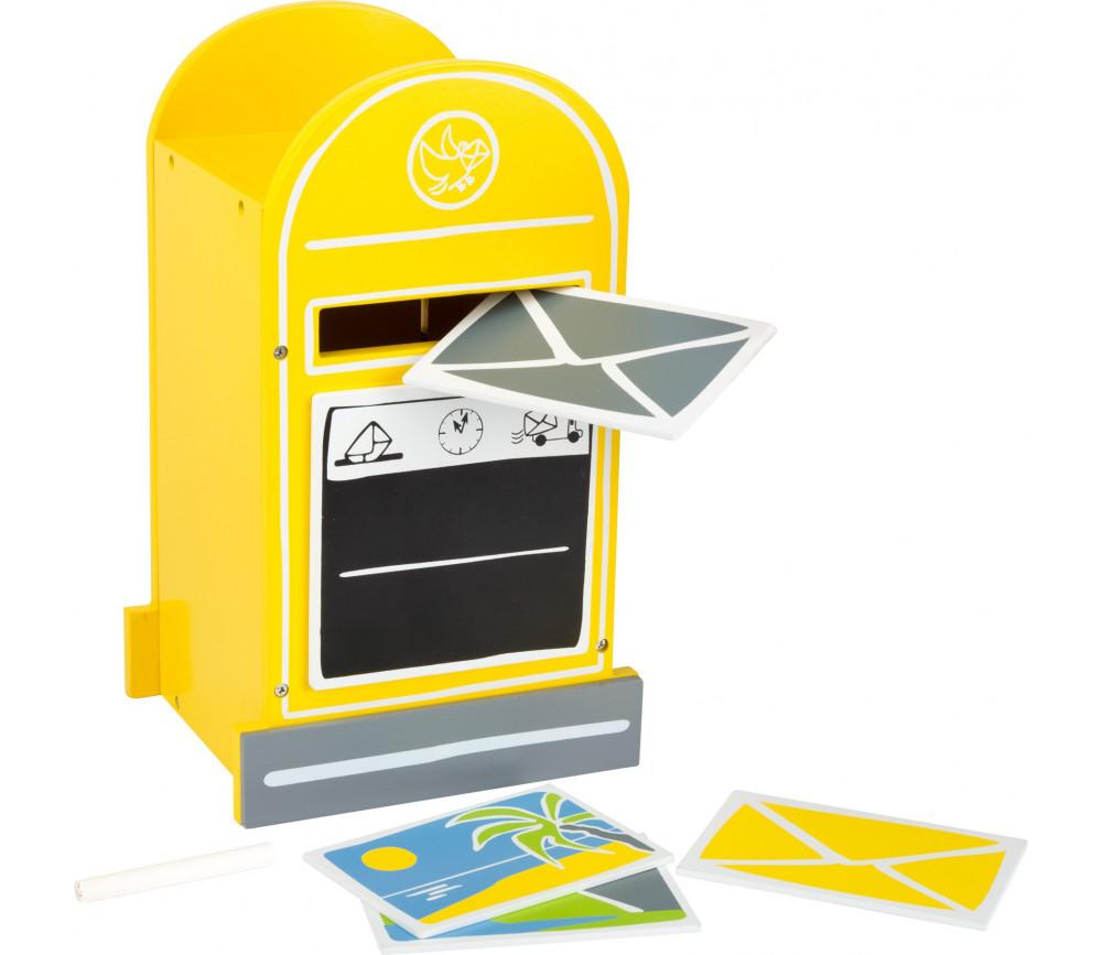 Boîte aux lettres en bois avec accessoires
