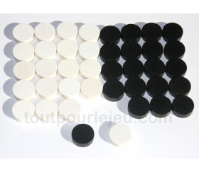 Set de 30 pions de backgammon 21 mm jacquet