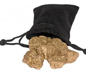 Sac de fausses pépites d'or 75 g
