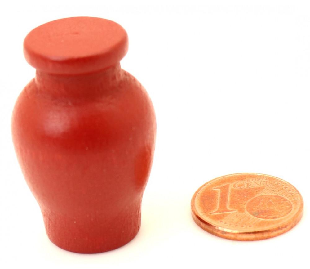 Pion Amphore en bois 30 x 20 mm rouge foncée