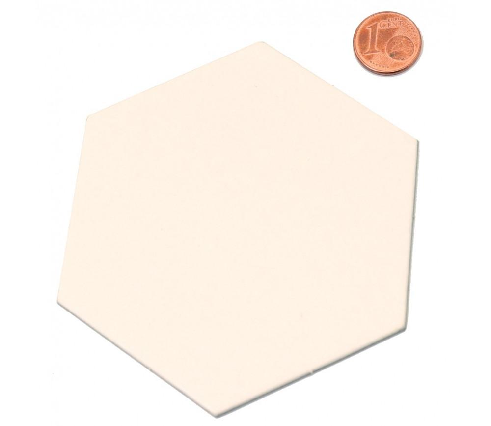 Tuile hexagone jeton épais blanc 88 mm diamètre vierge à personnaliser à l'unité Catan