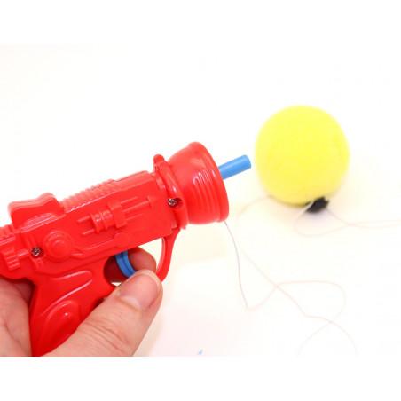 Lance balle mousse forme de pistolet 12.5 cm