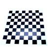 Damier plateau cartonné 41 cm cases de 40 mm noir et blanc