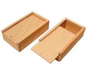 Boite en bois naturel ou d cor pour ranger cartes jouer - Boite en bois a decorer pas cher ...