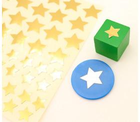 84 autocollants étoiles dorées de 1.3 cm et 2 cm