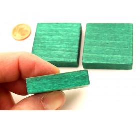 Pavé 34 x 34 x 8 mm jeton vert vintage carré