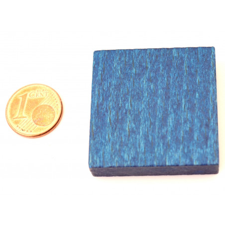 Pavé 34 x 34 x 8 mm jeton bleu carré
