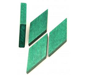 Losange en bois 60 x 25 x 8 mm VERT vintage