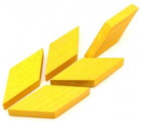 Losange en bois 60 x 25 x 8 mm JAUNE pour jeu achat en ligne