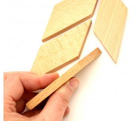 Parallèlogramme en bois 67 x 34 x 8 mm naturel pour jeu achat en ligne