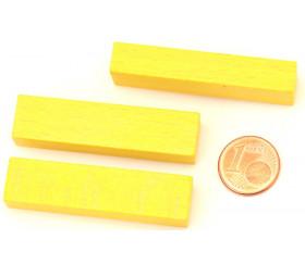 Bûchette jaune 8x12x48 mm pions en bois pour jeu