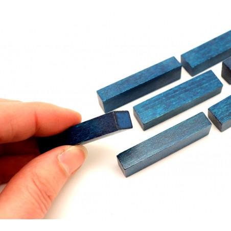 Bûchette bleue 8x12x48 mm pions en bois pour jeu