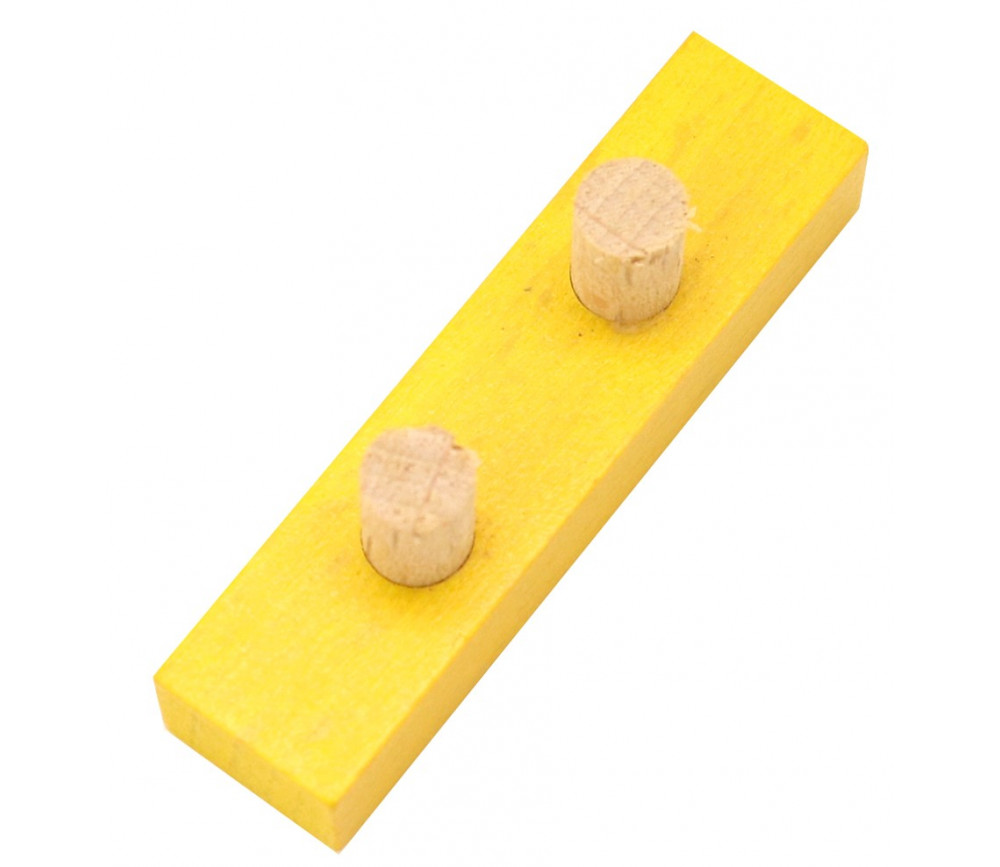 Bûchette jaune avec 2 tiges 8x12x48 mm pions en bois pour jeu