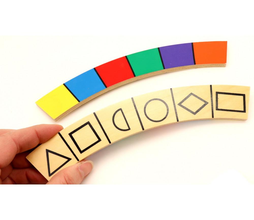 Partition couleurs et formes 20 x 3 x 0.5 cm