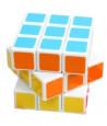 Cube 5.5 cm jeu de patience 6 faces couleurs