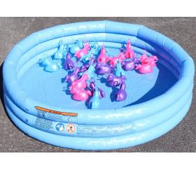 Licorne à pêcher rose 10 cm pour pêche aux canards
