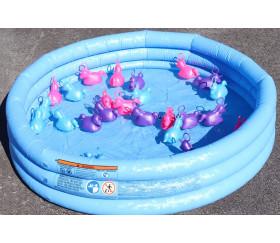 Licorne à pêcher bleu turquoise 10 cm pour pêche aux canards
