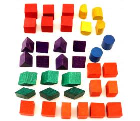 Lot 4 mini formes géométriques bois (compatible clown)