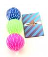 Mini Balles fluo jeu de plage lot de 3