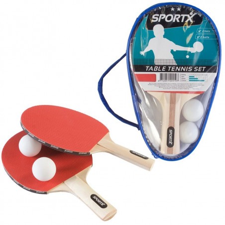 2 raquettes de ping-pong + 2 balles