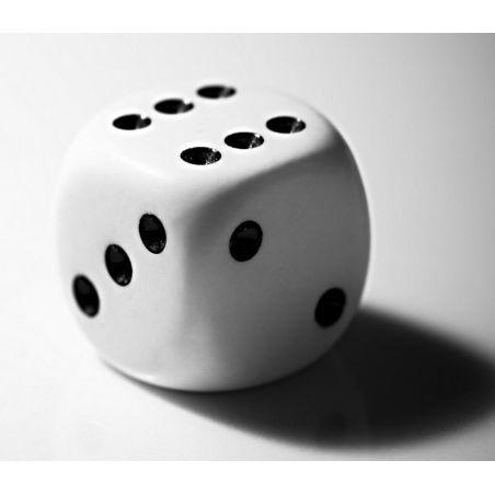 Dé blanc 14 mm de 1 à 6 pour jeu de société