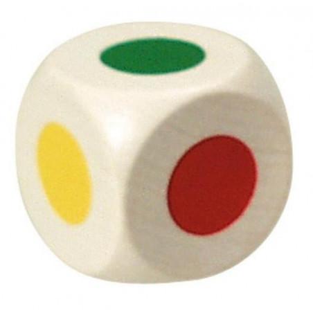Grand Dé 6 points couleur 25 mm pour jeu de société