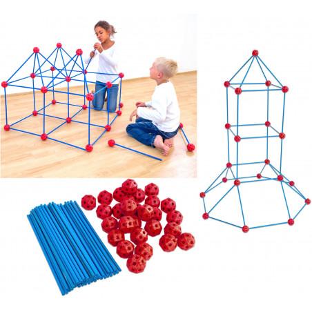 Construction géantes - jeu assemblage boules et de tiges à emboîter