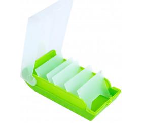Boite à trier cartes vert plastique de 20 x 9 x 6.5 cm