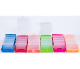 Boite à trier cartes jaune de 20 x 9 x 6.5 cm avec intercalaires amovibles