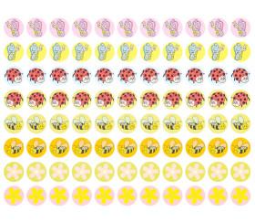 660 autocollants stickers animaux et fleurs