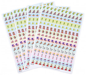 660 autocollants stickers princesse et chevaliers