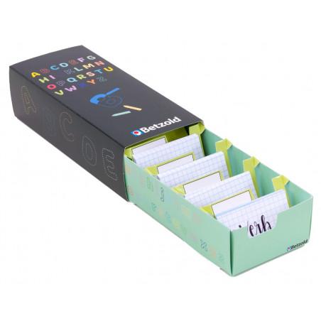 Boite à trier cartes décor lettres en carton
