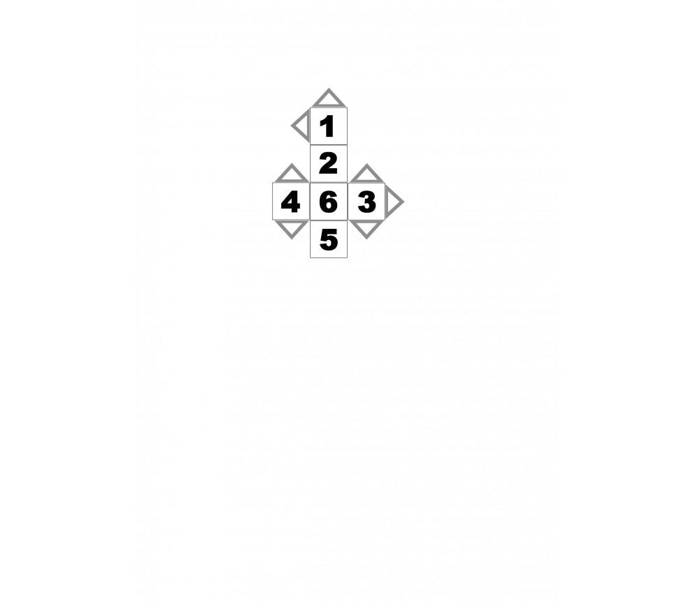 Dé à jouer gratuit chiffre 1 à 6 pour jeu de société