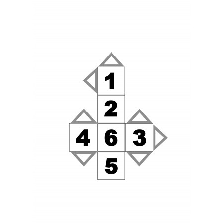 Dé à jouer géant gratuit chiffre 1 à 6 pour jeu de société