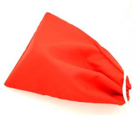 Sac tissu rouge avec cordon M++ 23 x 19 cm accessoires de jeux