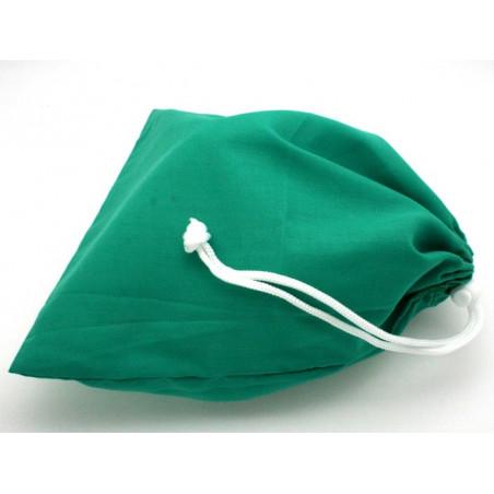 Sac tissu vert M++ 25 x 20 cm colorés pour pions de jeux