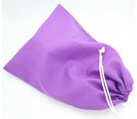 Sac tissu violet M++ 23 x 19 cm colorés pour pions de jeux