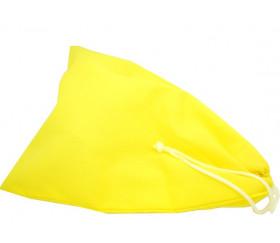 Sac tissu jaune M++ 23 x 19 cm pour petits accessoires