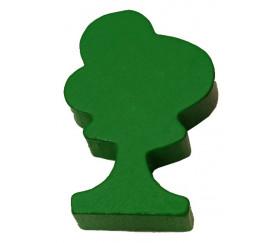 Pion arbre vert en bois 36x25x10 mm
