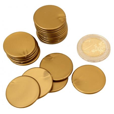 Lot 20 Jetons ronds 25 mm de diamètre en plastique plat