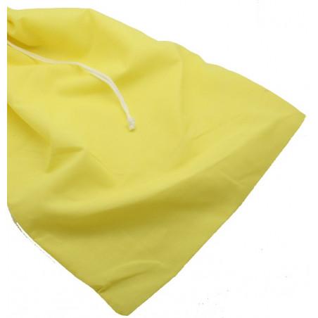 Sac tissu jaune XXL+ de 35 x 45 cm colorés pour accessoires de jeux