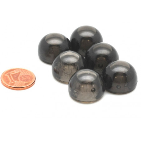 pion dome de jeu 12x15 mm demi boule plastique