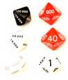 6 dés math : unité, dizaine, centaine, millier, dizaine de millier, centaine de millier 10 faces